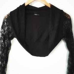 Giovani Lace Sleeves Bolero